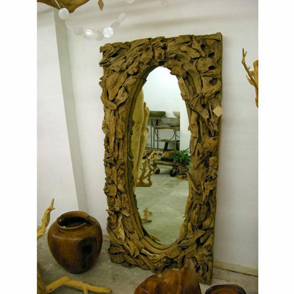 spiegel rechthoek ovaal wortelhout teak 160x80x20. Black Bedroom Furniture Sets. Home Design Ideas